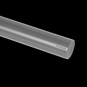PVC staf massief grijs